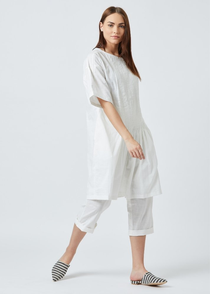Ready to ship! White tunic dress - onlyethikal