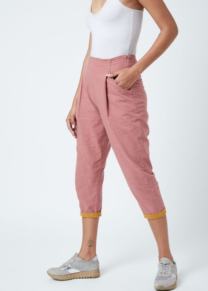 Zain Red Pants - Ethical made fashion - onlyethikal