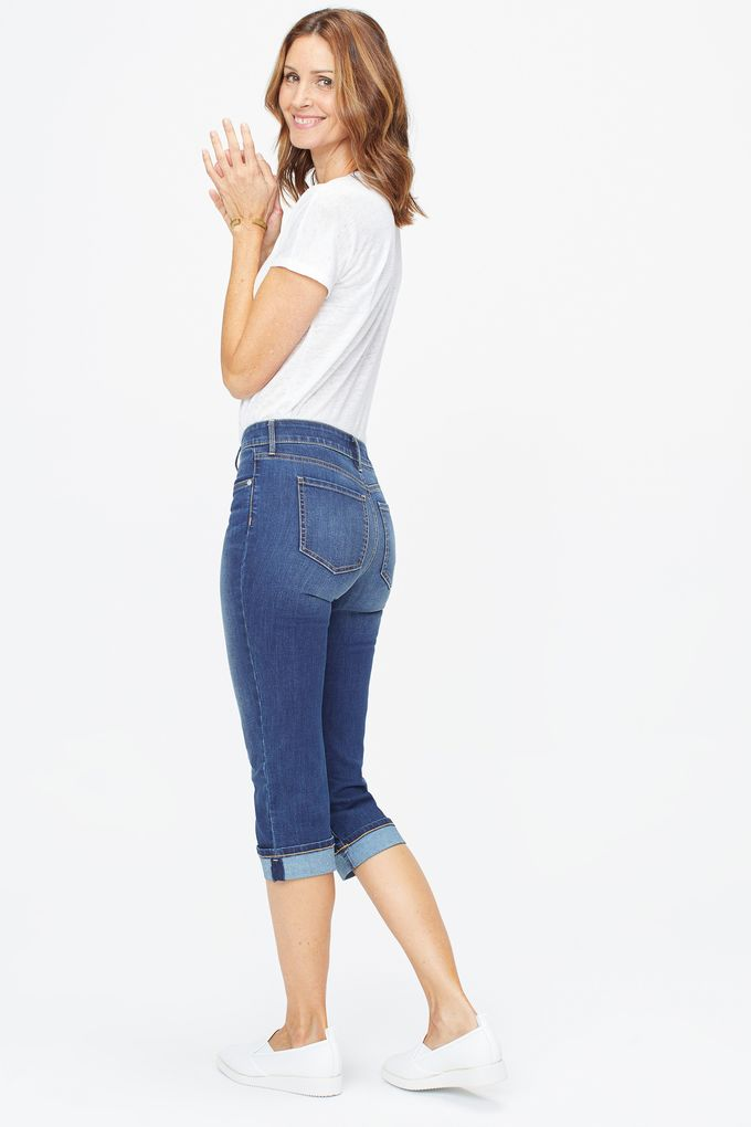 NYDJ MARILYN CUFF CAPRI IN JUNIPERO