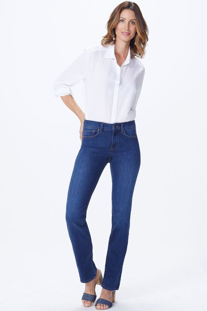 NYDJ MARILYN STRAIGHT MID DENIM COOPER