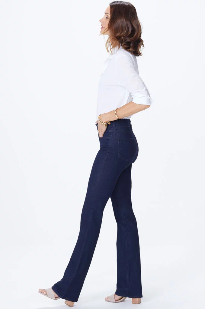 NYDJ BARBARA BOOTCUT IN DARK DENIM RINSE