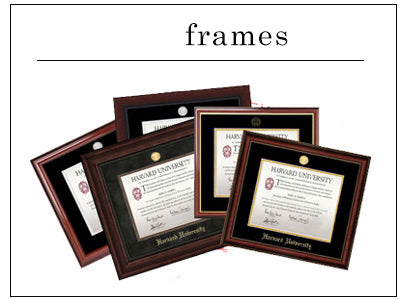 Go to 52 JFK St. to pick up a basic frame or customize your Harvard diploma by creating one online!