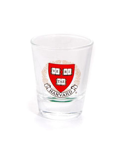 Harvard Crest Shot Glass