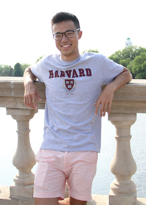 Official Harvard Crest T-shirt - Gray