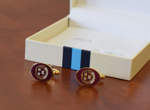 Official Harvard Enamel T-bar Cufflinks