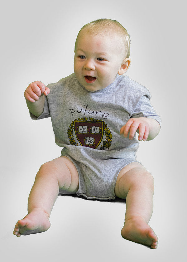 Official Harvard Future Freshman Onesie Gray