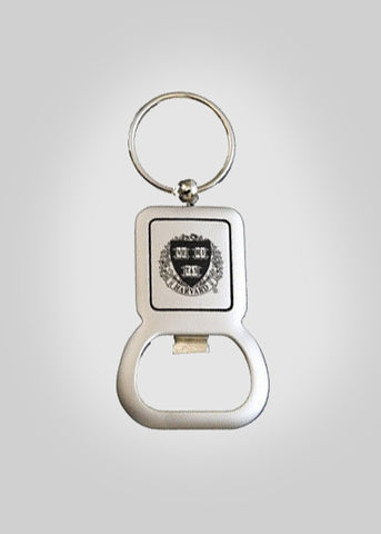Official Harvard Bottle Opener Keychain