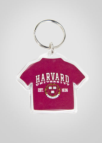 Official Harvard T-Shirt Keychain