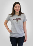 Official Women's Harvard Crest Tee - Gray
