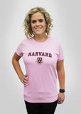 Official Women's Harvard Crest Tee - Pink
