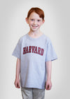 Official Harvard Youth Arc T-Shirt - Gray