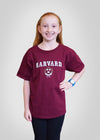 Official Harvard Youth Crest T-Shirt - Crimson