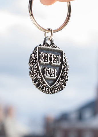 Official Harvard Metal Pewter Key Chain