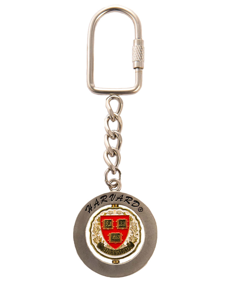 Official Harvard Spinner Keychain