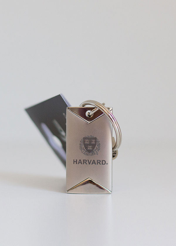 Harvard Tower Shield Keychain