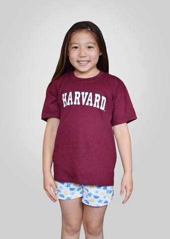 Official Harvard Youth Arc T-Shirt - Crimson