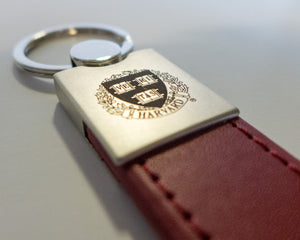 Leather Crest Keychain
