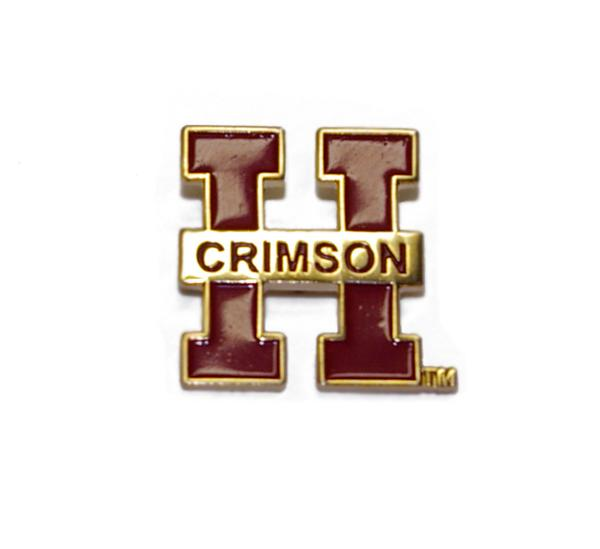 Harvard Crimson H Pin