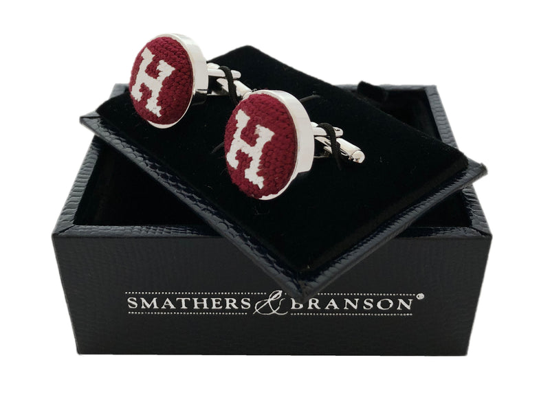 Harvard Silver Plated Cufflinks
