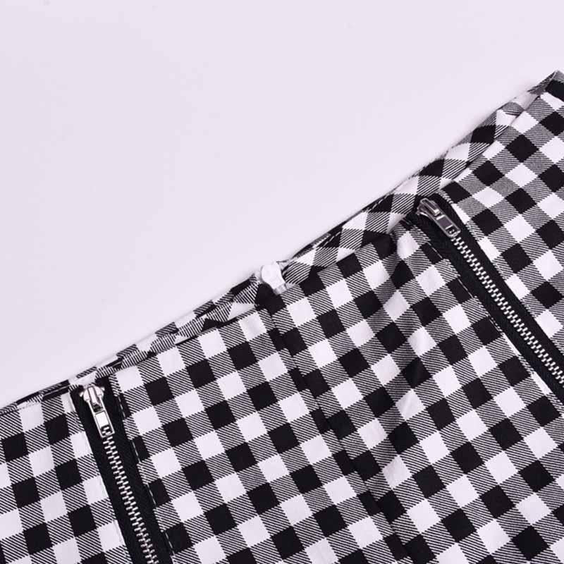 Classic Tummy Slimming Checked Trousers Stretch Skinny Pants