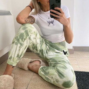 Tie Dye Sporty Pants High Waisted Joggers Pants