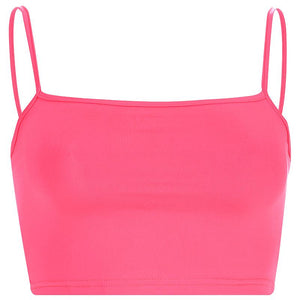 Cute Neon Crop Top Tank Top