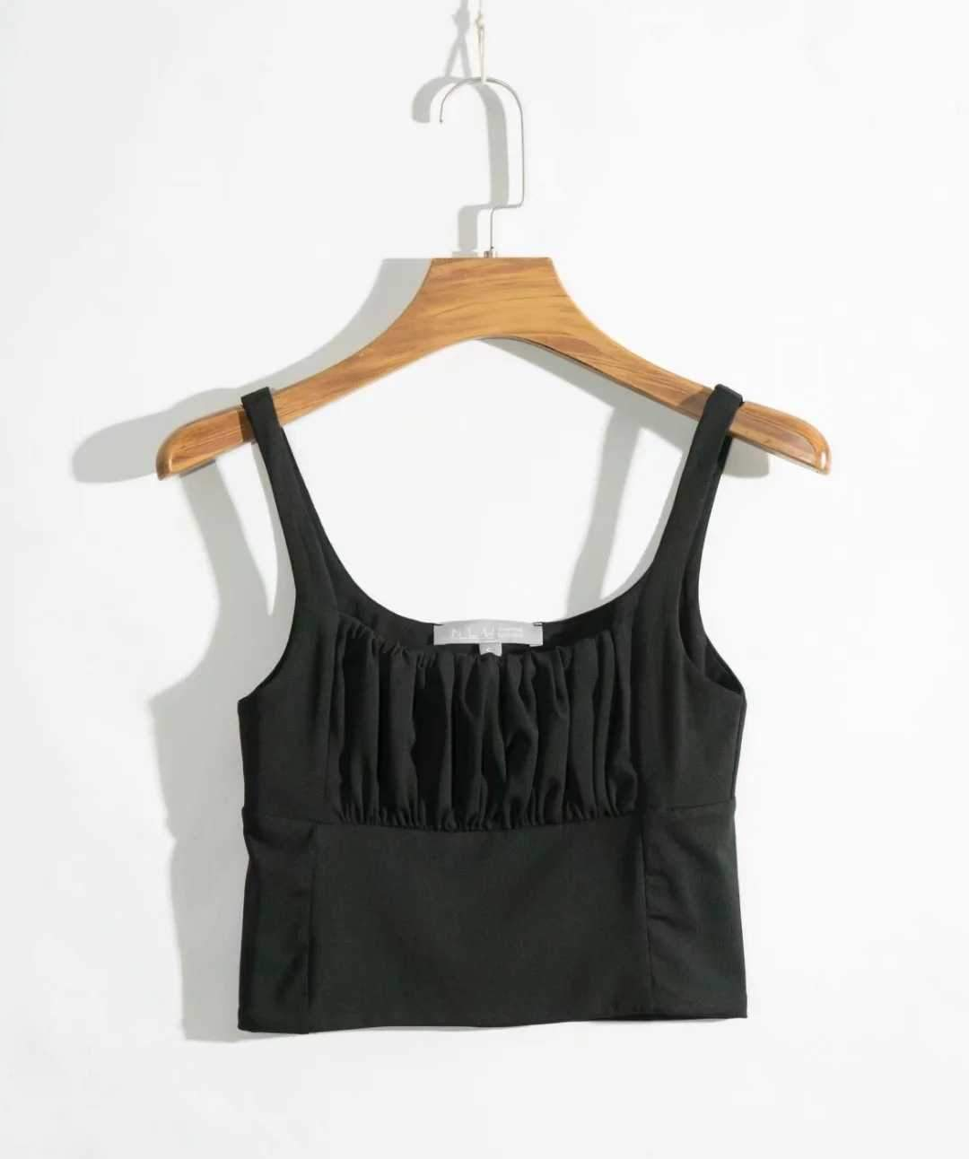 Pretty ruched Cropped Tank Top Sleeveless Crop Top