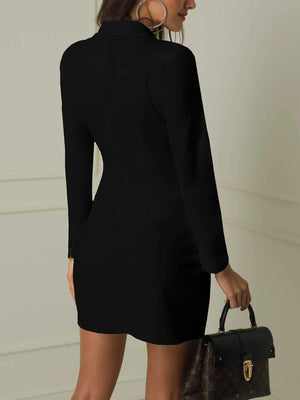 Double Breasted Work Suits Long Sleeve Blazer Dress