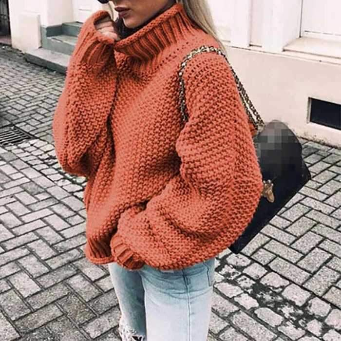 Oversized Baggy Turtleneck Knit Pullover Sweaters