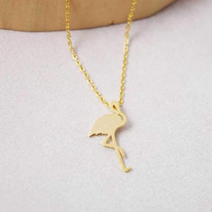 Lucky Simple Flamingo Pendant Necklace Rose Gold/Silver/Gold