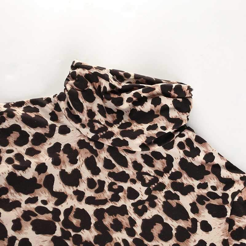 Cheetah Leopard Print Long Sleeve Thong Bodysuit