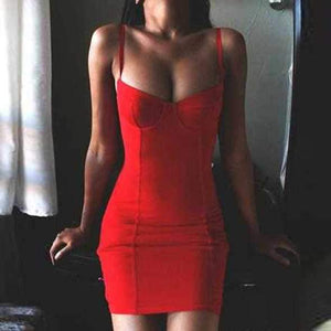 FreeShip Spaghetti Straps Bustier Dress Bralette Bodycon