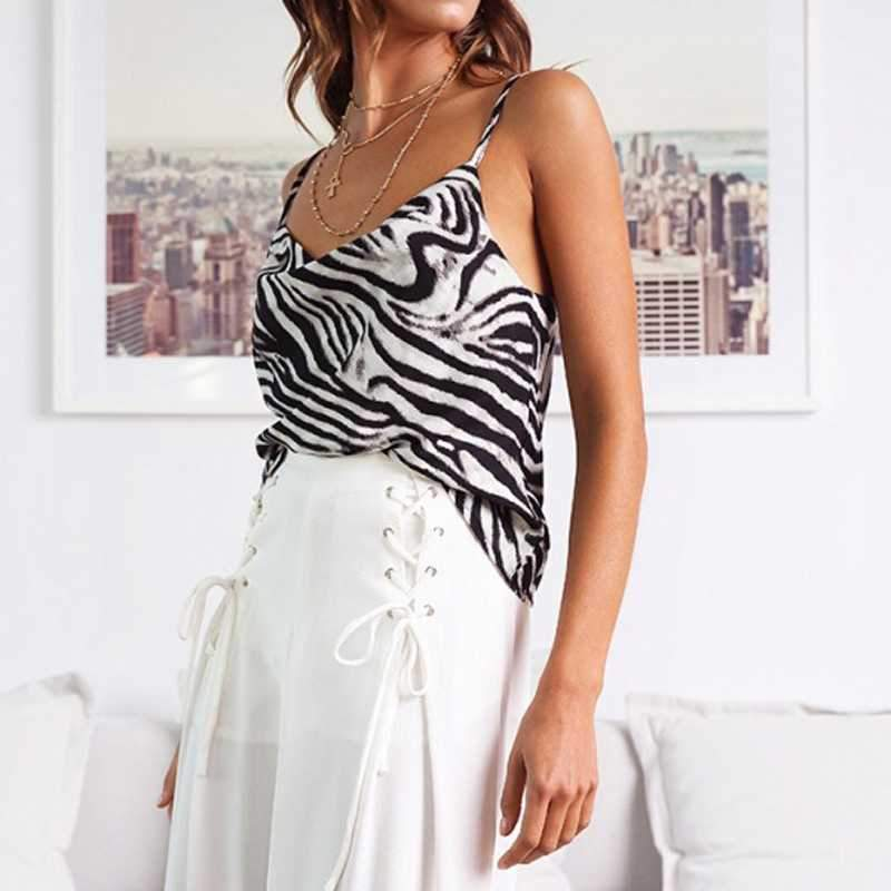 Relaxed Adjustable Spaghetti Strap Cow Neck Silk Satin Cami Tank Top