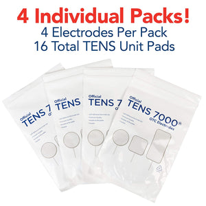"TENS 7000 Official TENS Unit Pads - 2"" x 4"" - 16 Count - TENS 7000"