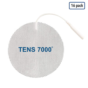 "TENS 7000 Official TENS Unit Pads - 3"" Round - 16 Count - TENS 7000"