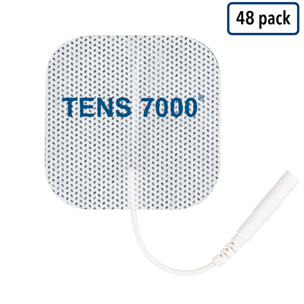"TENS 7000 Electrode Pads - 48 Pack - 2"" x 2"" Replacement Pads"