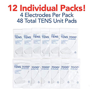 "TENS 7000 Electrode Pads - 48 Pack - 2"" x 2"" Replacement Pads - TENS 7000"
