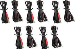 TENS Unit Wires - TENS Lead Wires For Electrodes - 5 Pair, 10 Total Lead Wires - TENS 7000