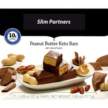 Load image into Gallery viewer, Slim Partners Protein Bars, Keto Peanut Butter