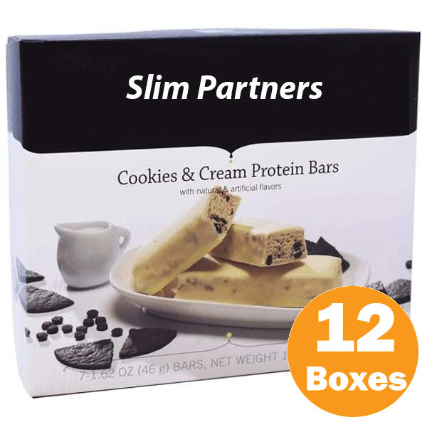 Slim Partners Protein Bars, Cookies & Cream (Case)