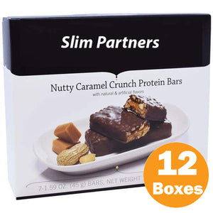 Slim Partners Protein Bars, Nutty Caramel Crunch (Case)
