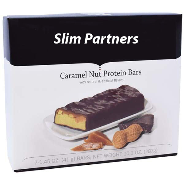 Slim Partners Protein Bars, Caramel Nut