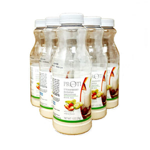 Instant Diet Protein Smoothie Strawberry Banana (6-Pack Bottles)