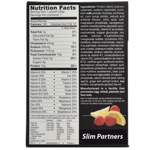 Meal Replacement Protein Shake / Pudding, Lemon Raspberry (7/Box)