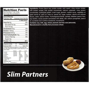 Slim Partners Protein Bars, Peanut Butter Cup- (Case)