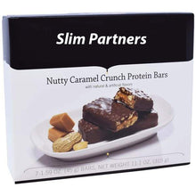 Load image into Gallery viewer, Slim Partners Protein Bars, Nutty Caramel Crunch (Case)
