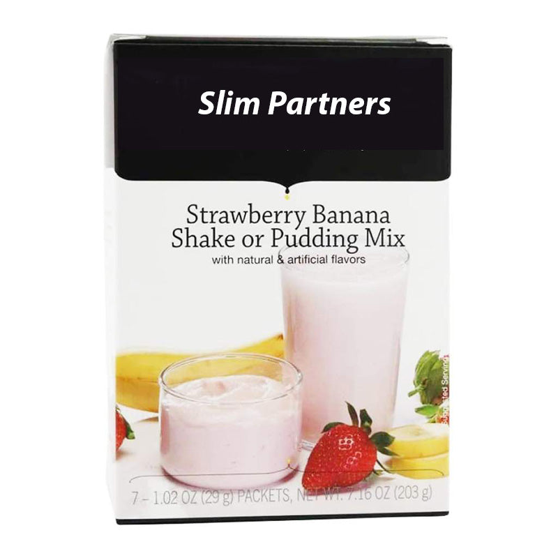 Meal Replacement Protein Shake / Pudding, Strawberry Banana (7/Box)