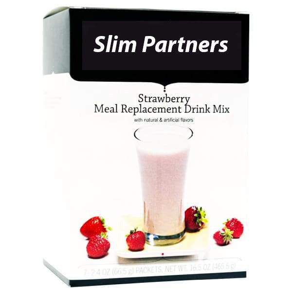 Double Protein Meal Replacement Shake, Strawberry (7/Box)