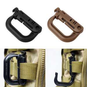 1pc D Shape Climbing Carabiner Screw Lock Bottle
