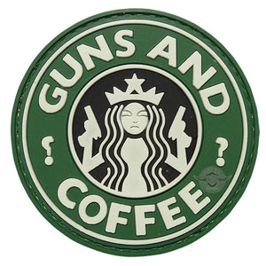 "5ive Star Gear ""Guns and Coffee"" PVC Morale Patch"